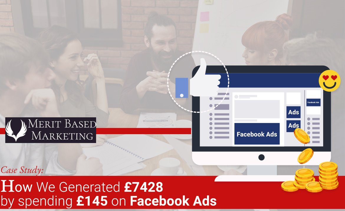 Facebook Ad Case Study: How We Generated £7428 by spending £145 on Facebook Ads